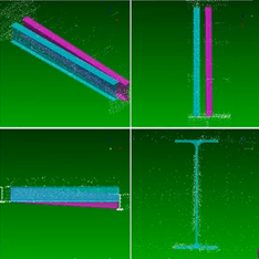 建築現場における3Dモデル作成と施工精査ツール
